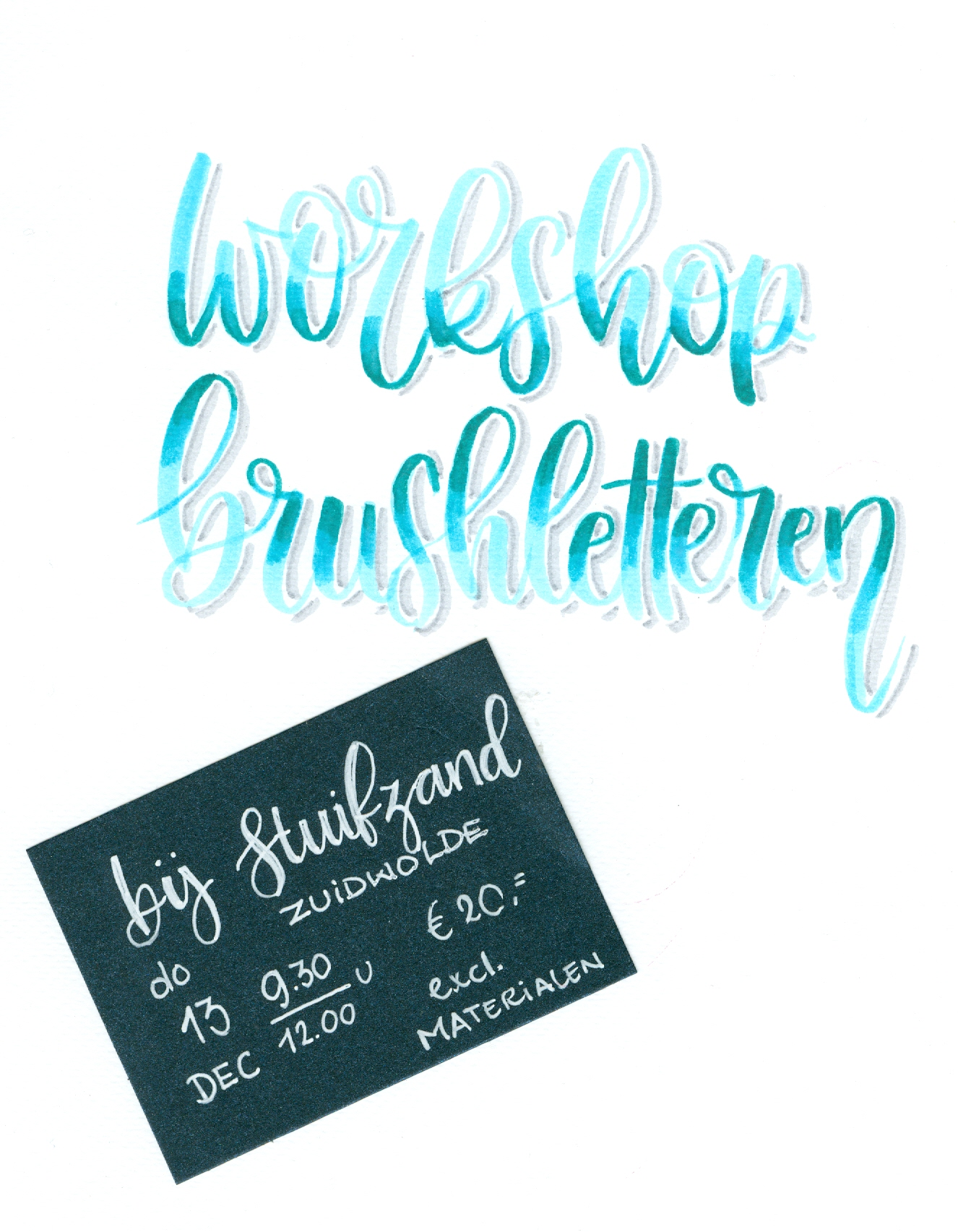 Workshop brushletteren